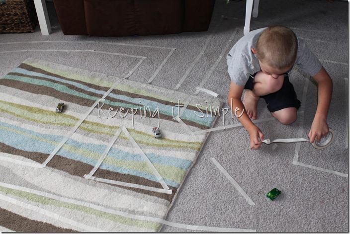 Masking Tape Race Track (2)