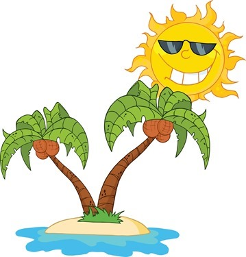 4257_cartoon_island_with_two_palm_tree_and_cartoon_sun1