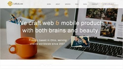 20 hermosos y simples sitios web minimalistas 14
