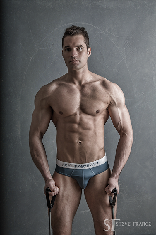 sexy guy in gray EA briefs