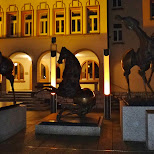 bronze horses near the rathaus in Vaduz, Vaduz, Liechtenstein