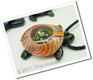 Orange  Turtle by Tina Holden