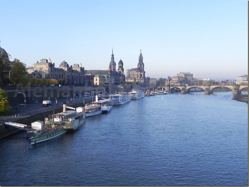 Dresden e o rio Elba