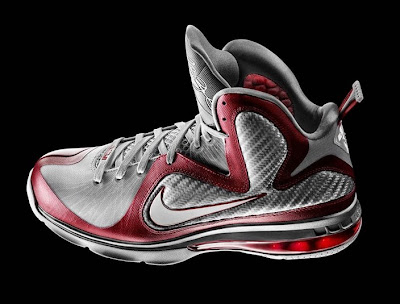 nike lebron 9 gr ohio state grey 3 01 Releasing Now: Nike LeBron 9 Ohio State Buckeyes