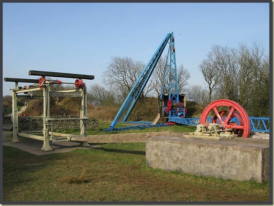 Old quarry machinery at Tegg's Nose