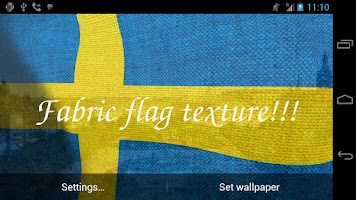 Screenshot of 3D Sweden Flag Live Wallpaper