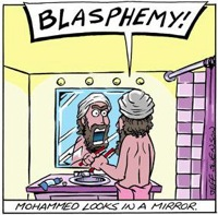 Muhammad looks in the mirror blasphemy draw day