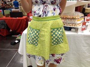 waist apron handmade by Gingko Designs