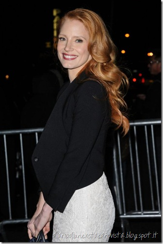 Jessica Chastain outside The Daily Show in NYC, January 16th