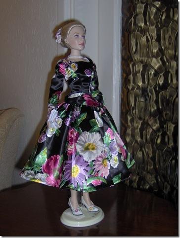 Grace Kelly Black Print Dress 5