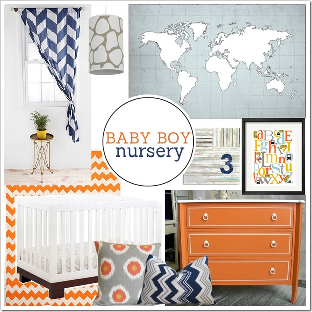PBJstories Boy Nursery Mood Board