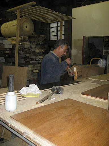 Jose DeJesus preparing a sample.