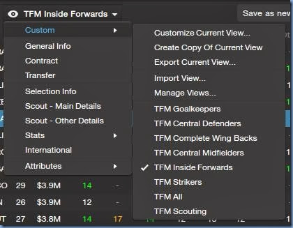 Player Search Views in FM 2014