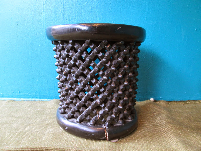 Studded Tribal Stool