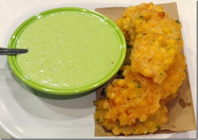 Gluten Free Corn Fritters with Jalapeno Buttermilk Dip