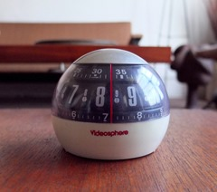 JVC Videosphere wind-up alarm clock.  Possible promotional item?