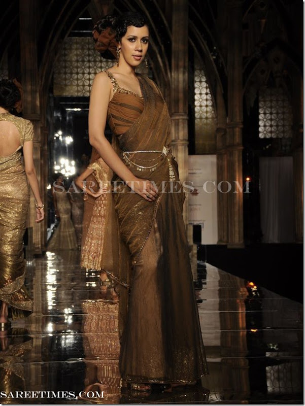 Tarun_Tahiliani_Brown_Designer_Sare