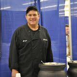 Joe Krumhold of the Jordan Inn shows off his wild rice and split pea soups
