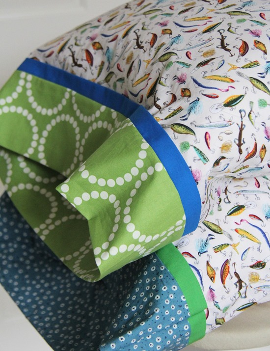 Fishing Pillowcases, Cluck Cluck Sew Blog