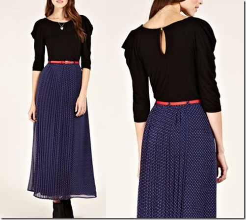 Oasis pleat neck