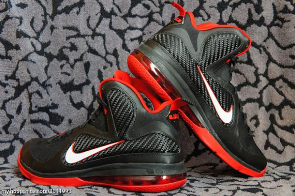 Fresh Look at Nike LeBron 9 in Black White and Red of course