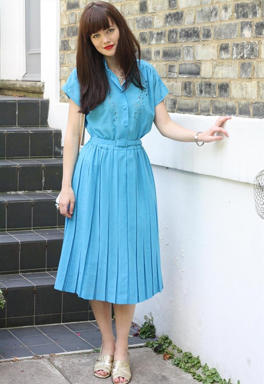 70's Turquoise Pleated Dress, £28, Bohemianrose Vintage