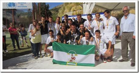 Campeones 1ª Categoria Masculina Andalucia Campeonato España Selecciones Autonómicas 2013