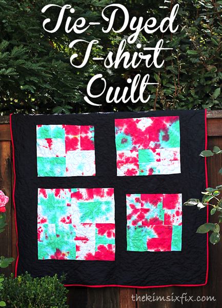Tie Dyed T shirt Quilt