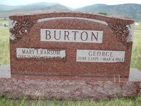 George Burton & Mary Ransom