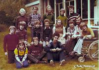 Klassenfoto van de eindgroep