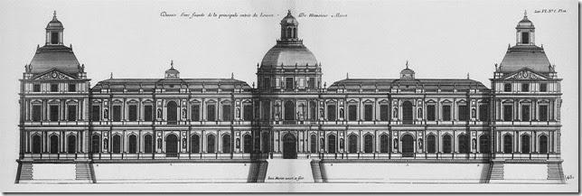 Louvre-Élévation de la principale facade au côté de Saint-Germain l'Auxerrois