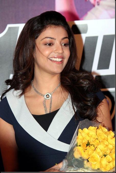 Actress Kajal Agarwal Stills at Thuppakki Audio Release Function