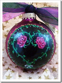 Entwined Rose Heart Ornament