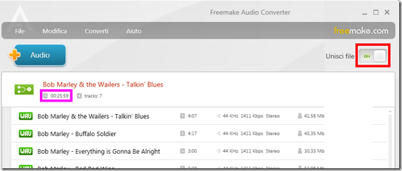 Freemake Audio Converter Unisci file