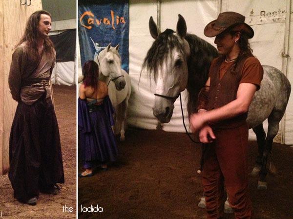 Cavalia Social Media VIP Night Sydney 2013 - Backstage - Horses and Cast (1)