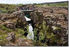 Thingvellier National Park - the divide between Eurasian (left) and American (right) continents