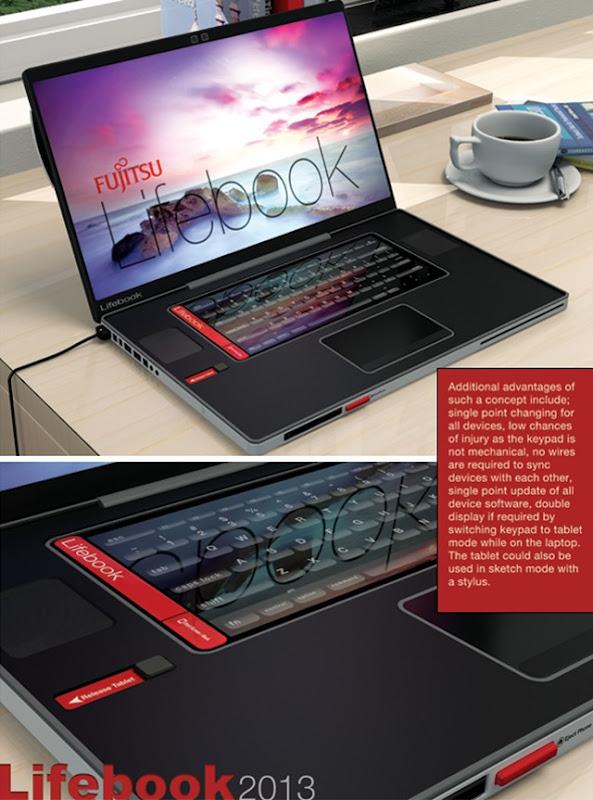 Konsep Fujitsu Lifebook 2013: 4 dalam 1