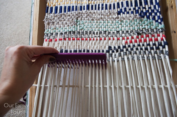 Woven Fabric Scrap Wall Art 22