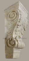 Acanthus Detail Honed Isis Gold Corbel