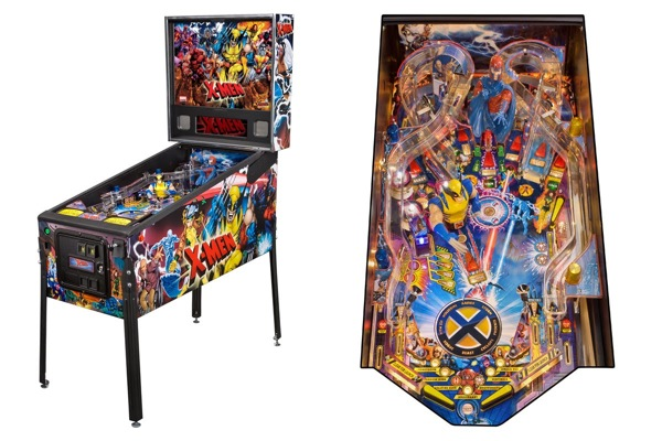 Stern pinball xmen pro cabinet playfield wired design