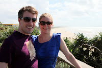 Aubain and Ingrid at Coolum beach