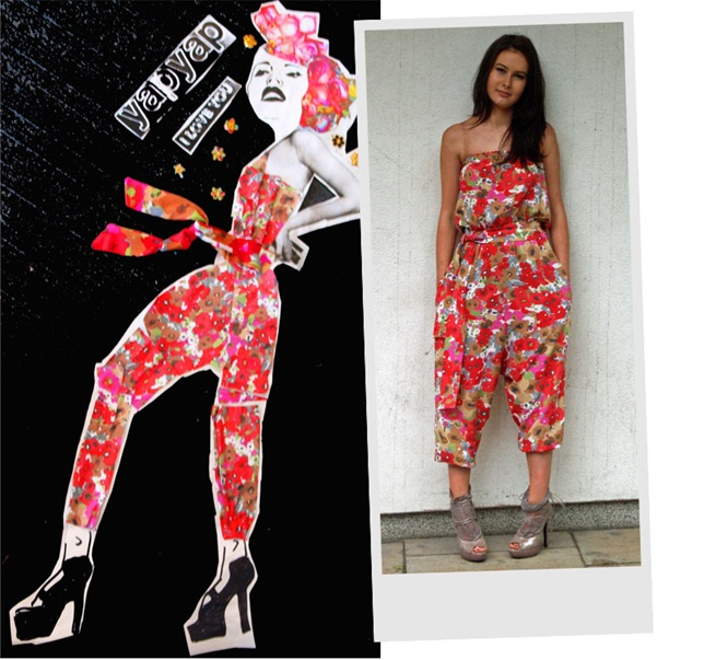 """Our piece is FLOWER MEDLEY JUMPSUIT, it is a celebration of early summer and everything it promises !!!!"