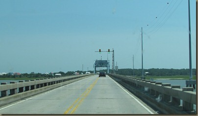 VERY narrow bridge to Hunting Island State park, SC