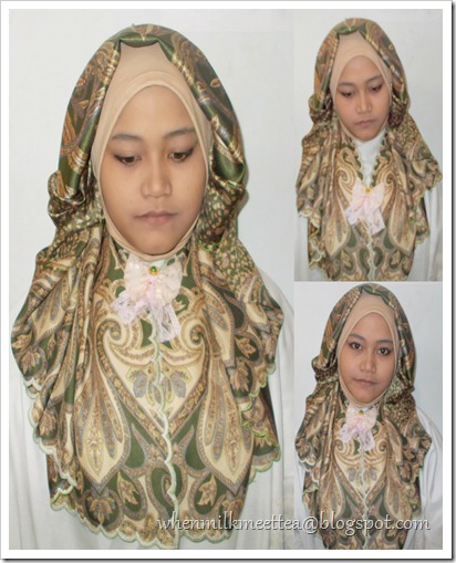 milk meet tea [fashion and D-I-Y thing]: hijab tutorial :green umbrela
