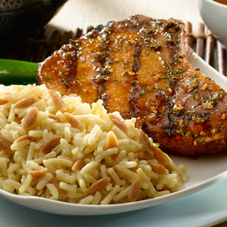 Asian-Style Pork Chops with Rice Pilaf