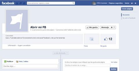 Tutorial para crear una página en Facebook