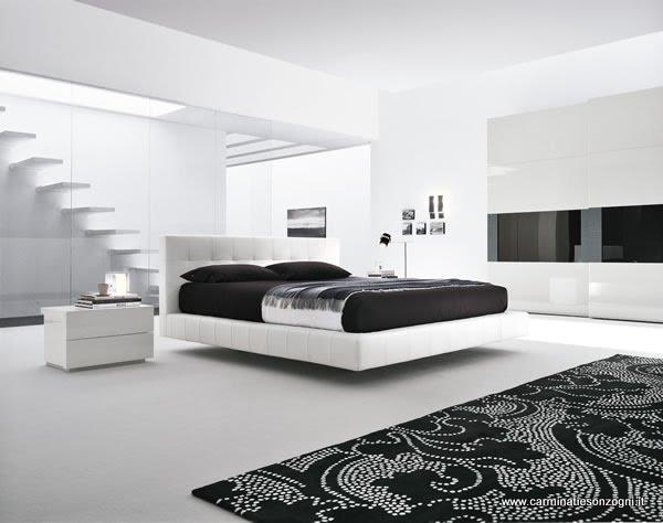 Arredamenti moderni carminati e sonzognicarminati e sonzogni - Camera da letto bianca moderna ...