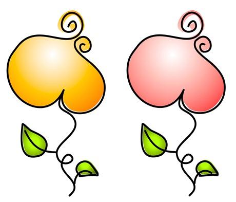 Clipart - Imagens Decoupage - flores- coração