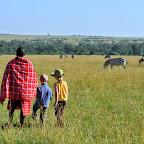 Mit den Kindern auf Safari in der Massai Mara, März 2012