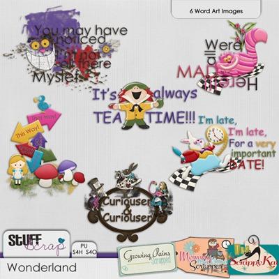 Wonderland - Wordart